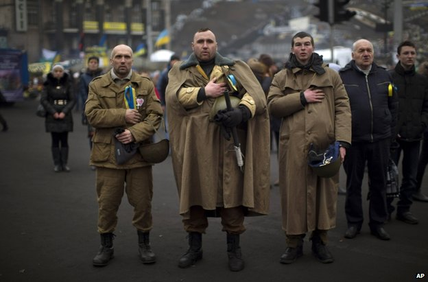Protesters on Kiev's Independence Square, 1 March