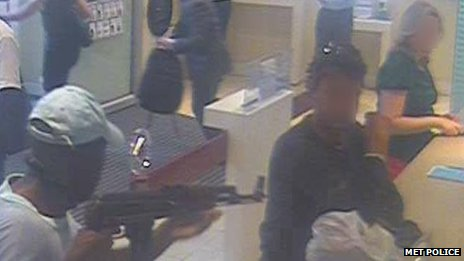 Police released a CCTV still of the armed robbery