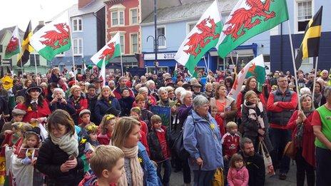 Pared Aberystwyth