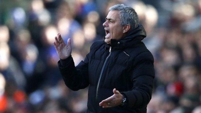 Jose Mourinho's Chelsea are now four points clear at the top of the Premier League table