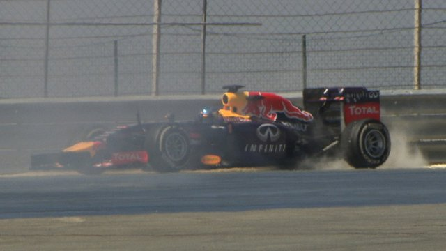 Red Bull's Sebastian Vettel spins out in Bahrain F1 test