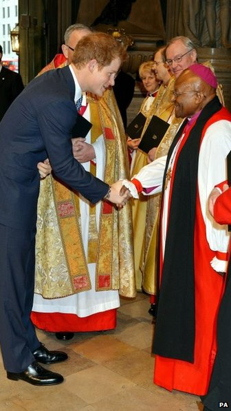 Prince Harry and Archbishop Desmond Tutu