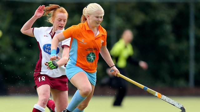 Ards' striker Chloe Brown who was named player of the tournament at the European Indoor Club Championships