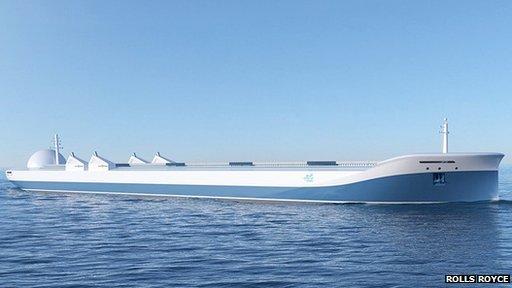Rolls Royce drone ship