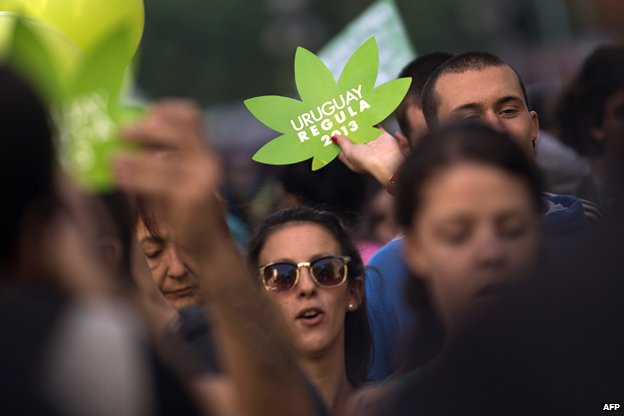People march for the legalisation of marijuana
