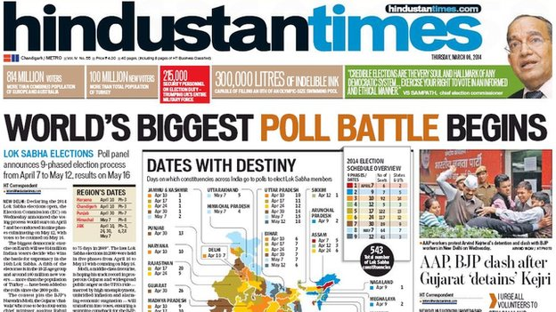 Hindustan Times front-page