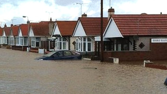 Flooding in Rhyl