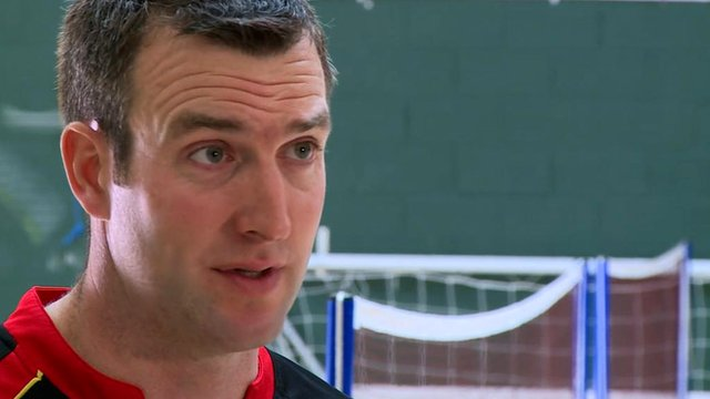 Falkland Islands badminton coach Doug Clark