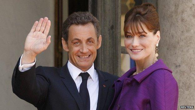 French President Nicolas Sarkozy and his wife Carla Bruni-Sarkozy