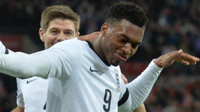 Daniel Sturridge celebrates England winner