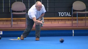 bowler at Belle Vue Park Bowling Club