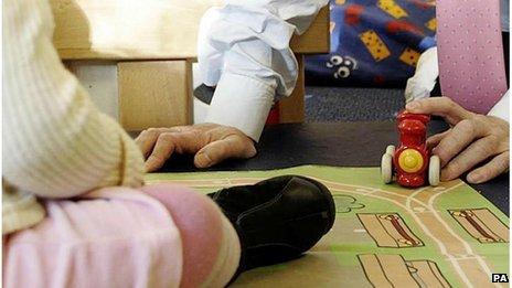 Child at a nursery