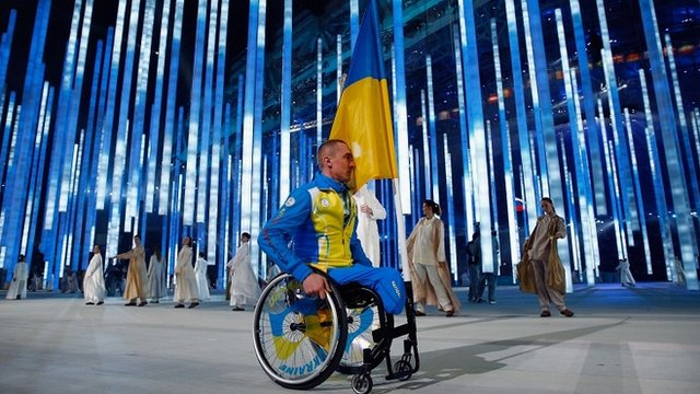Mykailo Tkachenko of the Ukraine at Sochi
