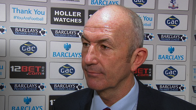Crystal Palace manager Tony Pulis