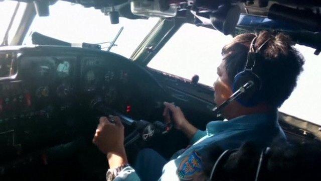 Pilot in cockpit