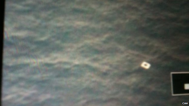 Image released by Vietnam's civil aviation authority appears to show object in sea that officials say could be a fragment of the missing Malaysia Airlines flight