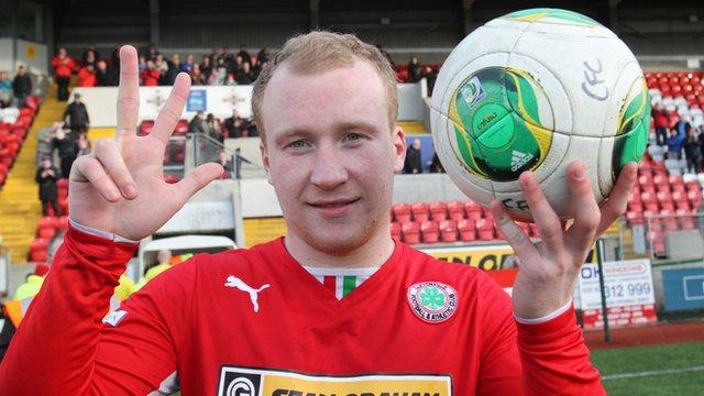 Cliftonville hat-trick hero Liam Boyce