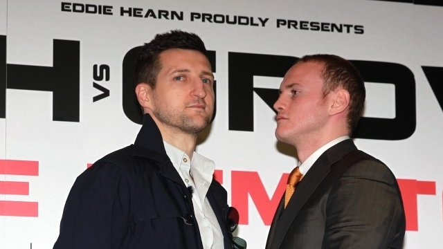 Carl Froch and George Groves at the press conference for their second fight