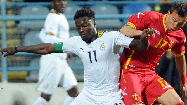 Ghana's Sulley Muntari (left)