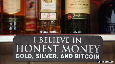 A bitcoin sign