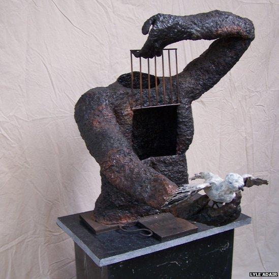 Headless sculpture