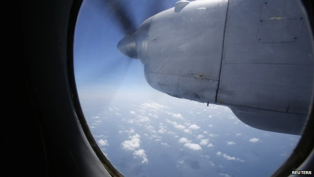 View from window of search plane