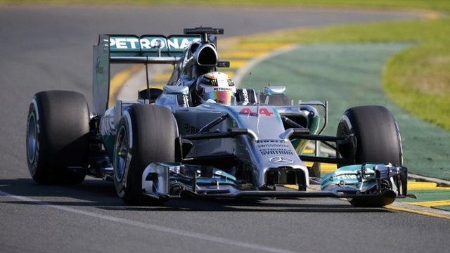 Lewis Hamilton sets pace in practice two for the Australian GP