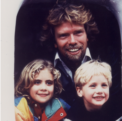 Richard Branson and children