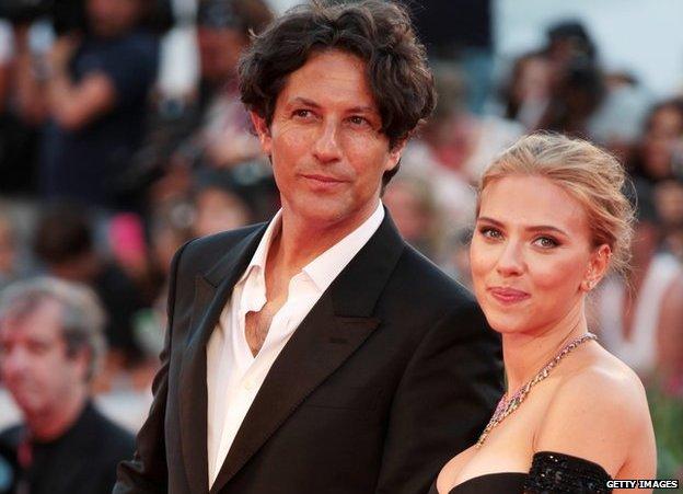Jonathan Glazer and Scarlett Johansson at the Venice Film Festival