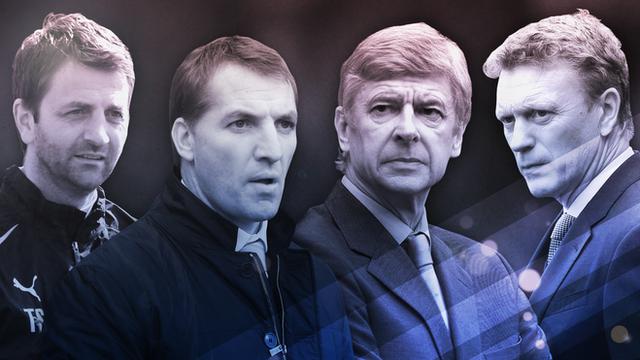 Tim Sherwood, Brendan Rodgers, Arsene Wenger, David Moyes
