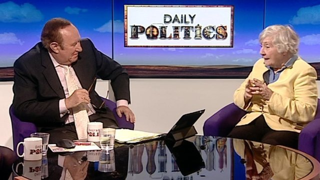 Andrew Neil and Shirley Williams
