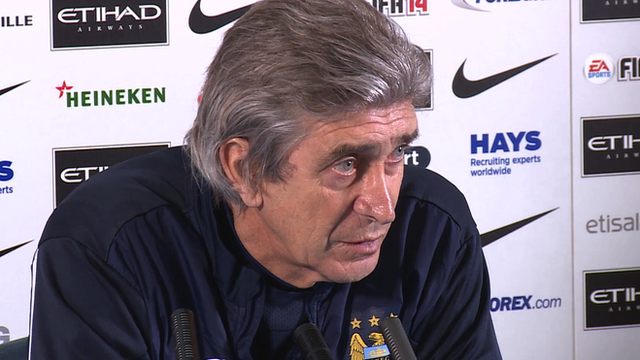 Manchester City's Manuel Pellegrini 'worried' by lack of goals