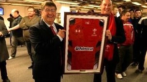 WRU chief executive Roger Lewis led tributes to Davies ahead of the Wales v Scotland kick-off.