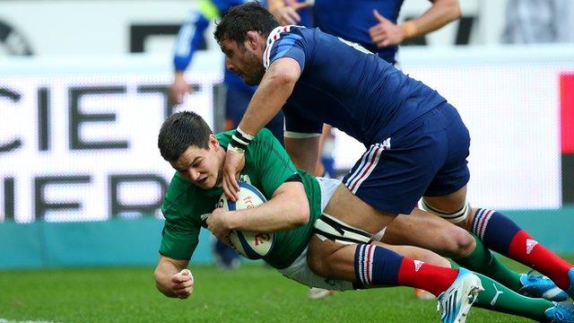 Sexton try puts Ireland ahead