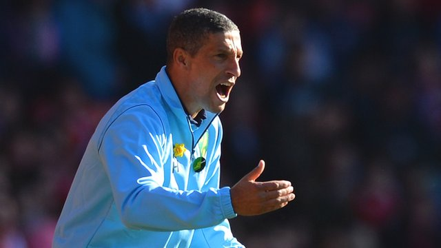 Chris Hughton watches on as Norwich lose 4-2 against Southampton