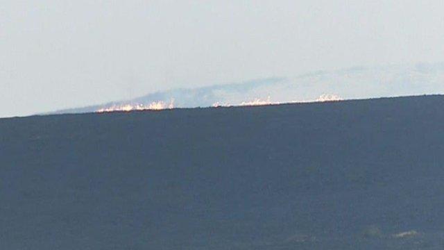 Grass fire near Pontsticill Reservoir