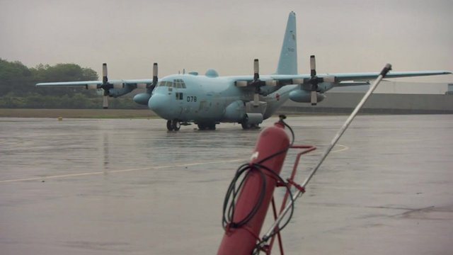 Search plane grounded at Malaysian airbase