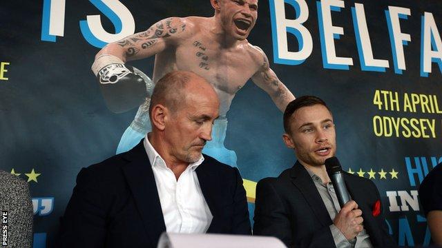 Carl Frampton is looking forward to his WBC super-bantamweight title final eliminator against Hugo Cazares