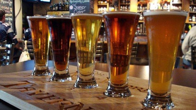 Five pints of beer