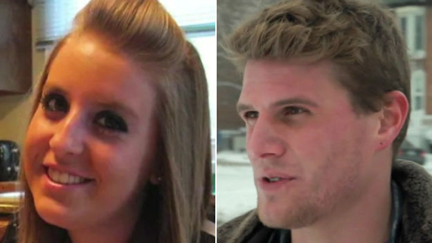 Two middle-class victims of heroin: Steven Lunardi (right) has been clean for more than a year, but Stephanie Chiakas (left) died of an overdose
