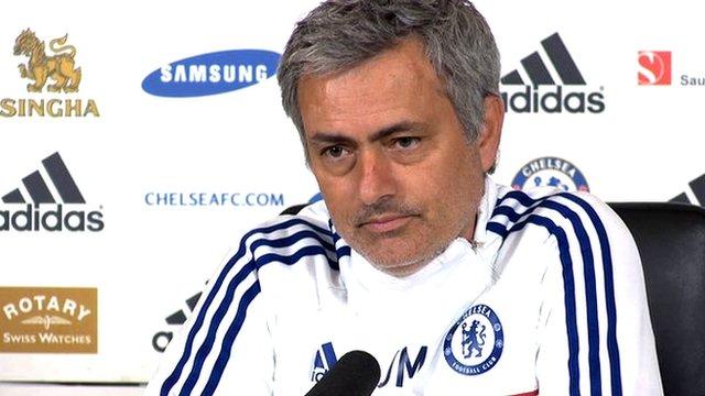 Jose Mourinho faces the media before Chelsea v Arsenal