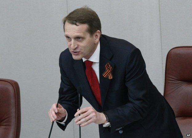 Sergei Naryshkin at the State Duma, 20 March