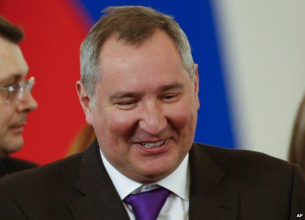 Dmitry Rogozin in Moscow, 18 March