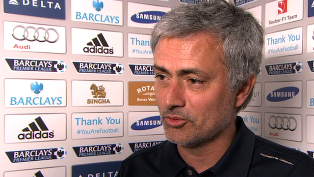 Chelsea 6-0 Arsenal: Jose Mourinho leaves early to tell wife score