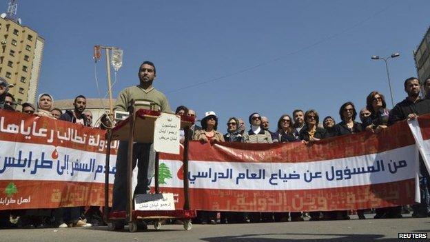 Protest in Tripoli, Lebanon, 22 March