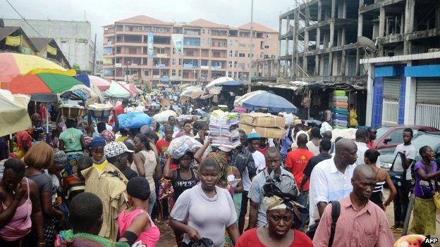 Market in Guinea