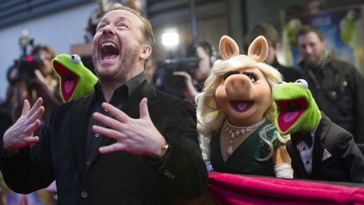Constantine, Ricky Gervais, Miss Piggy and Kermit the Frog