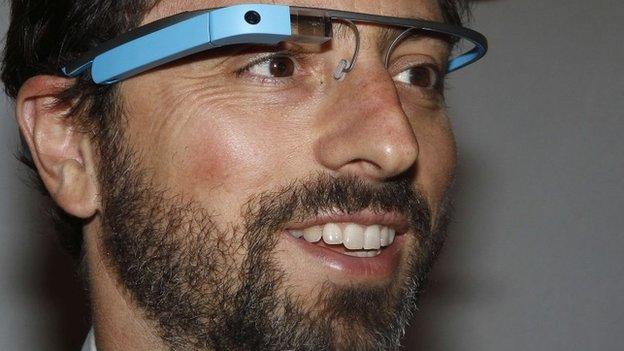 Sergei Brin wearing Glass
