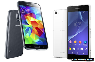 Galaxy S5 and Xperia Z2