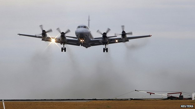 Royal Australia Air Force AP-3C Orion takes off from RAAF Base Pearce in Perth, Australia. 26 March 2014